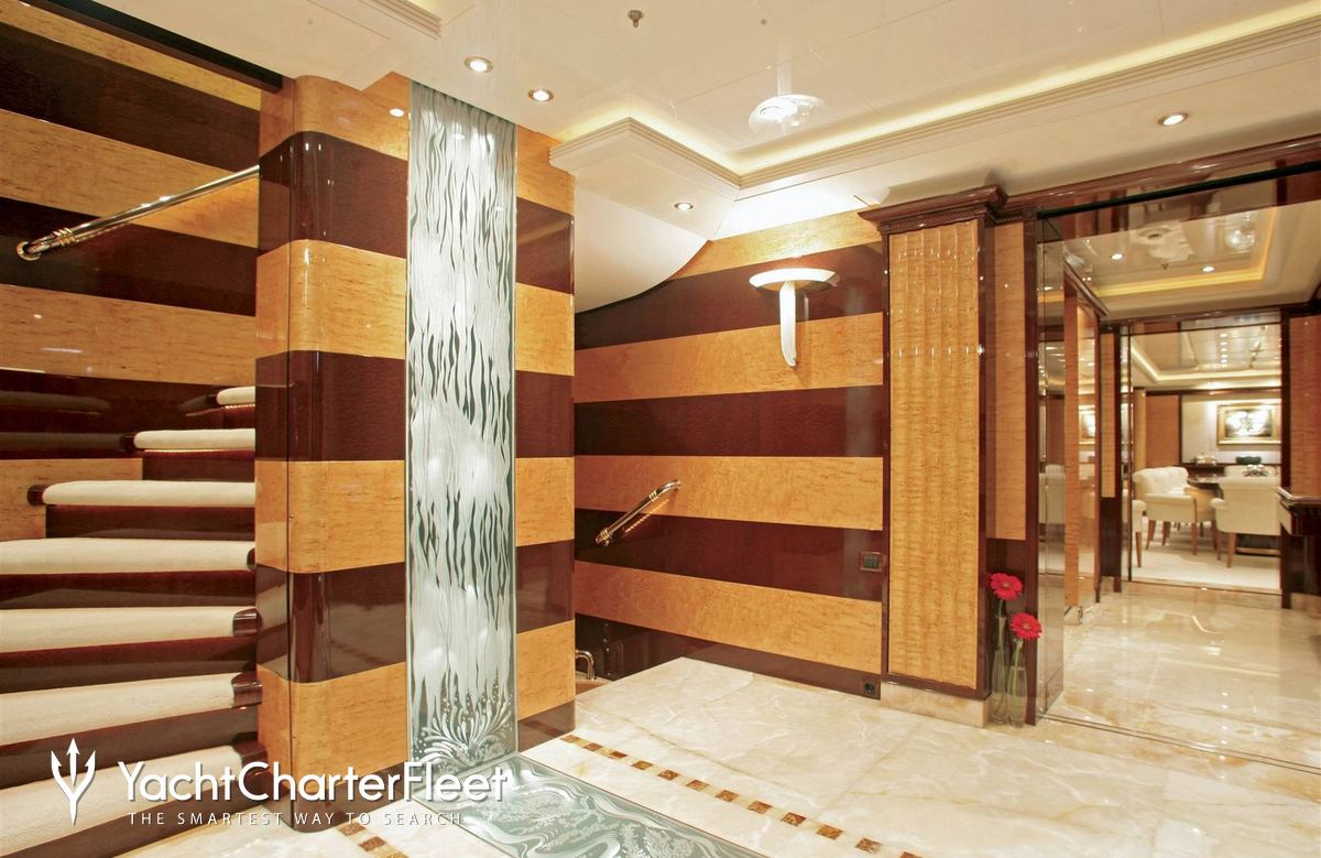 Grand Foyer Yacht : Lady lola yacht charter price oceanco luxury