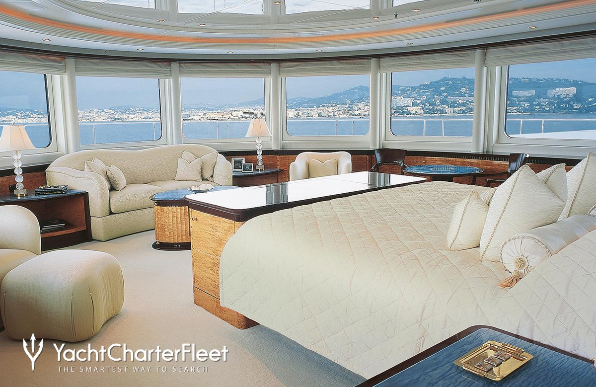 Nirvana yacht charter price oceanco luxury yacht charter -  Lucky Lady Yacht Master Stateroom On Upper Level