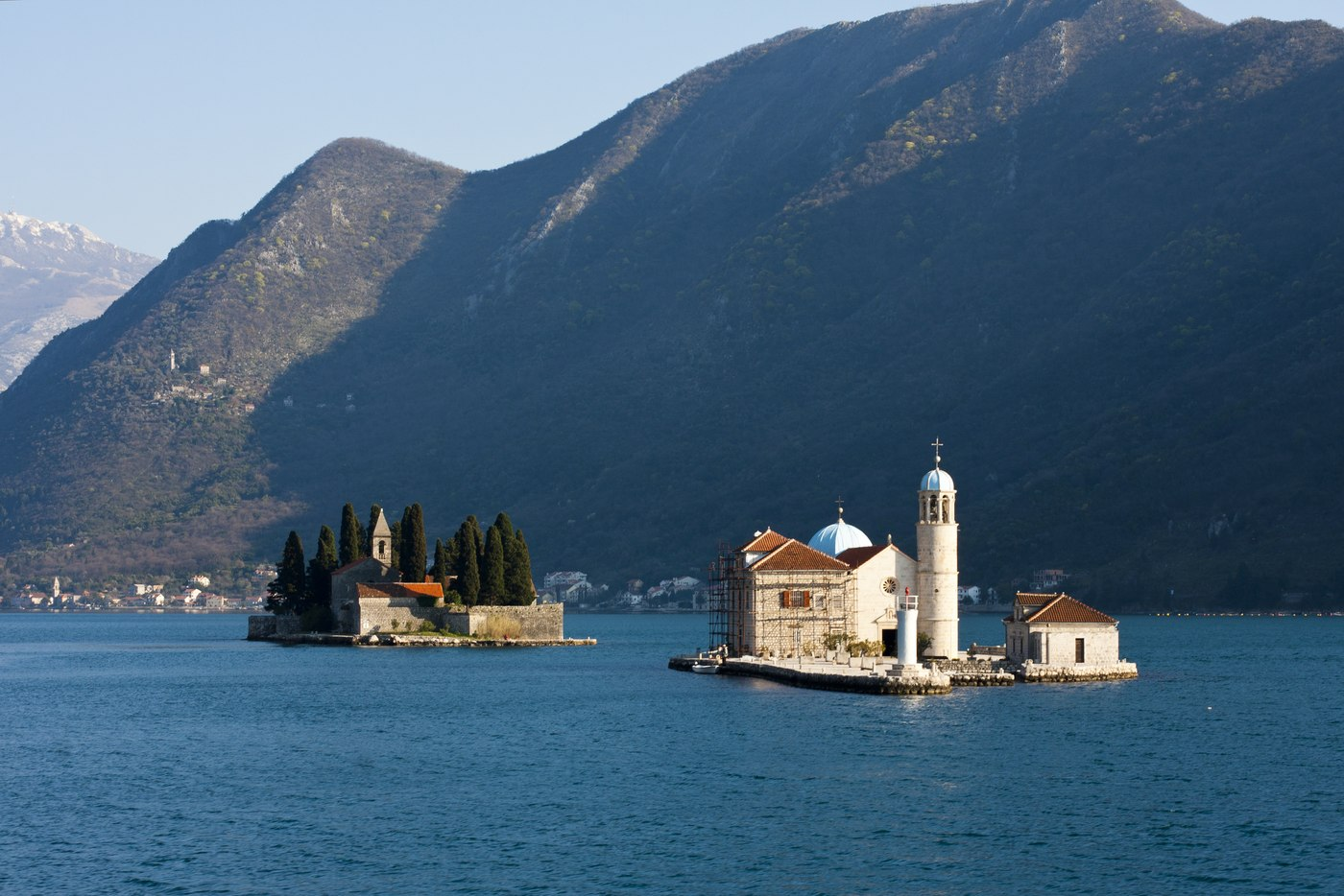 Motor yacht JO cruising in the bay of Kotor, Montenegro