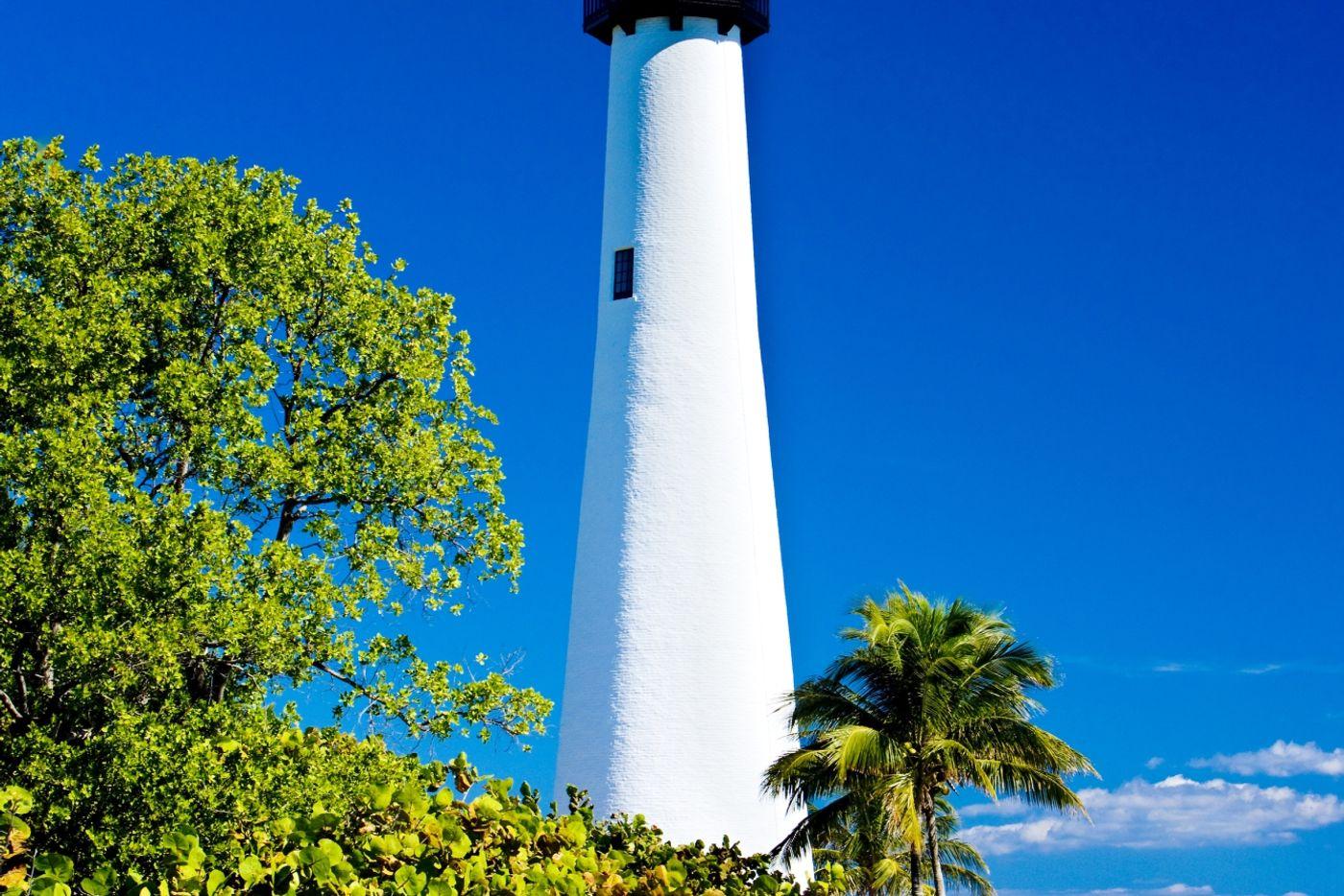A brightly coloured building in Miami