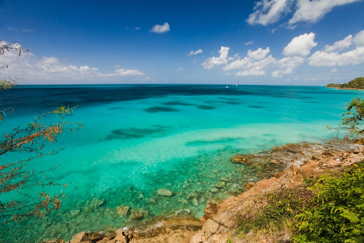 view from cannon at british fort at nelson's dockyard national park on our antigua yacht charter trip