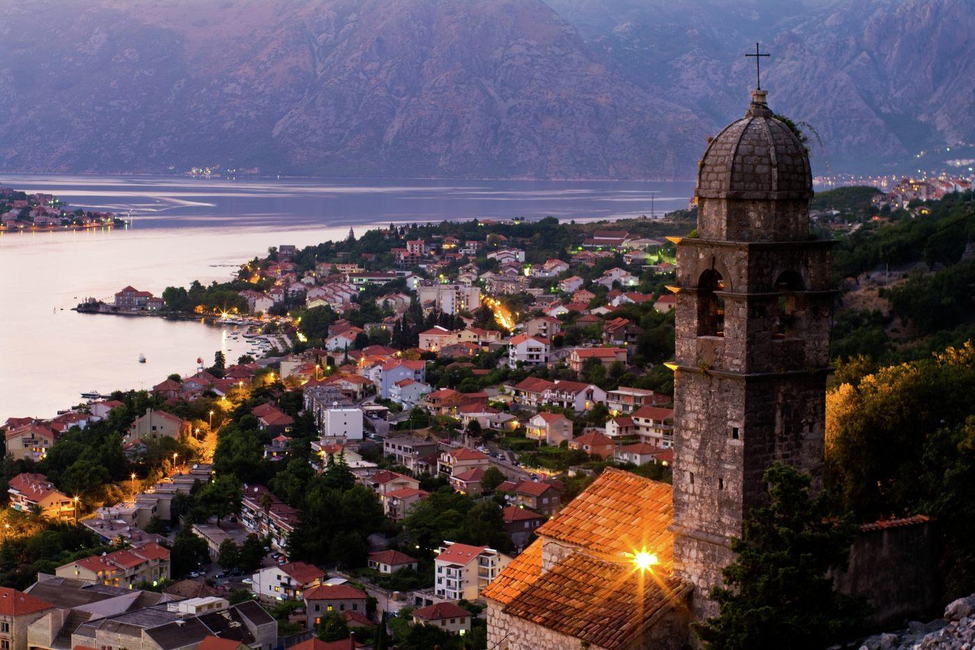 Walking through the stunning entrance to Old Town Budva in Montenegro