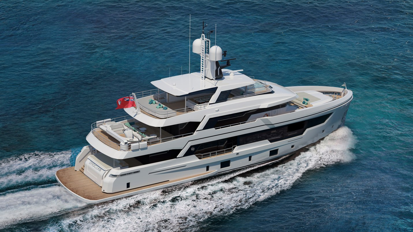 Explorer yacht EMOcean on the water