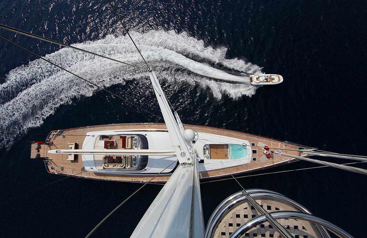 Sailing yacht PRANA aerial shot