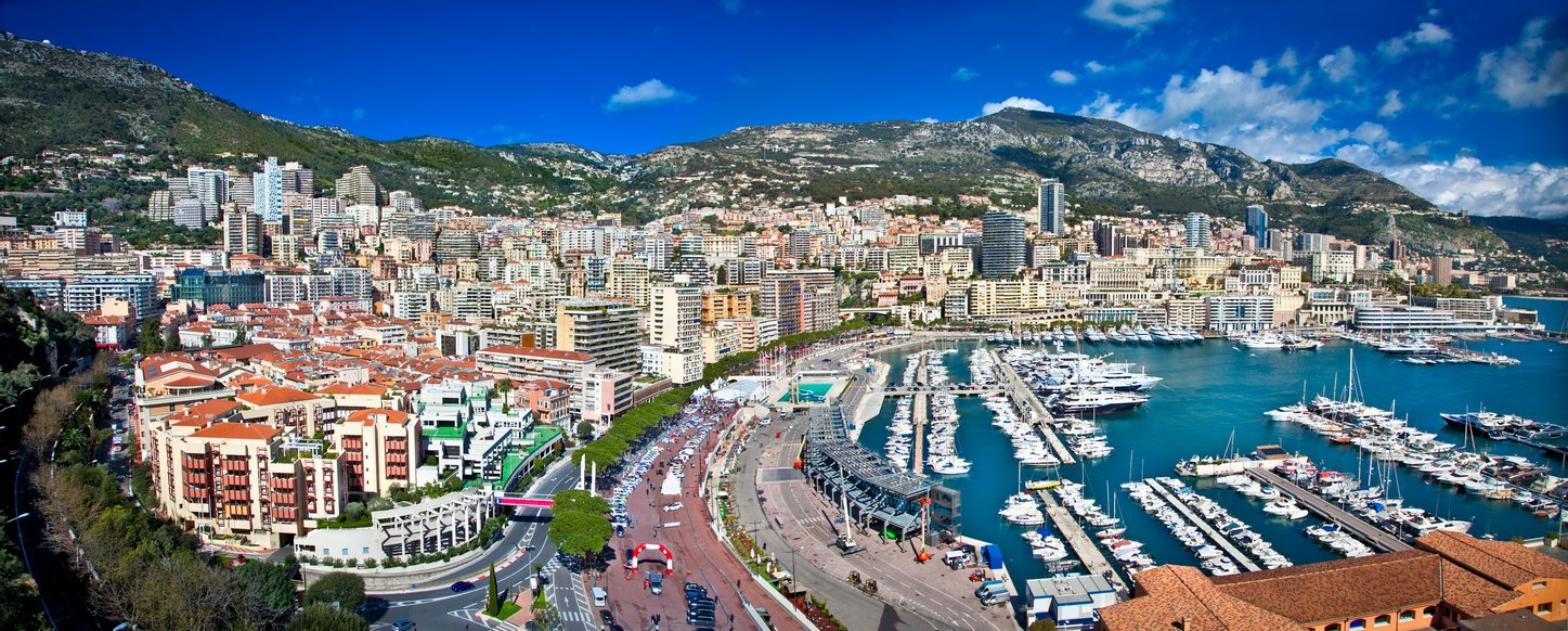 Monaco Grand Prix Charter Yachts in Port Hercule harbour