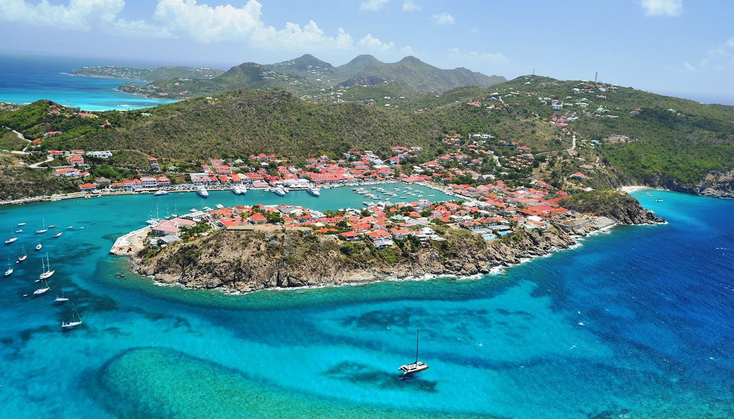 Aerial View of St Barts