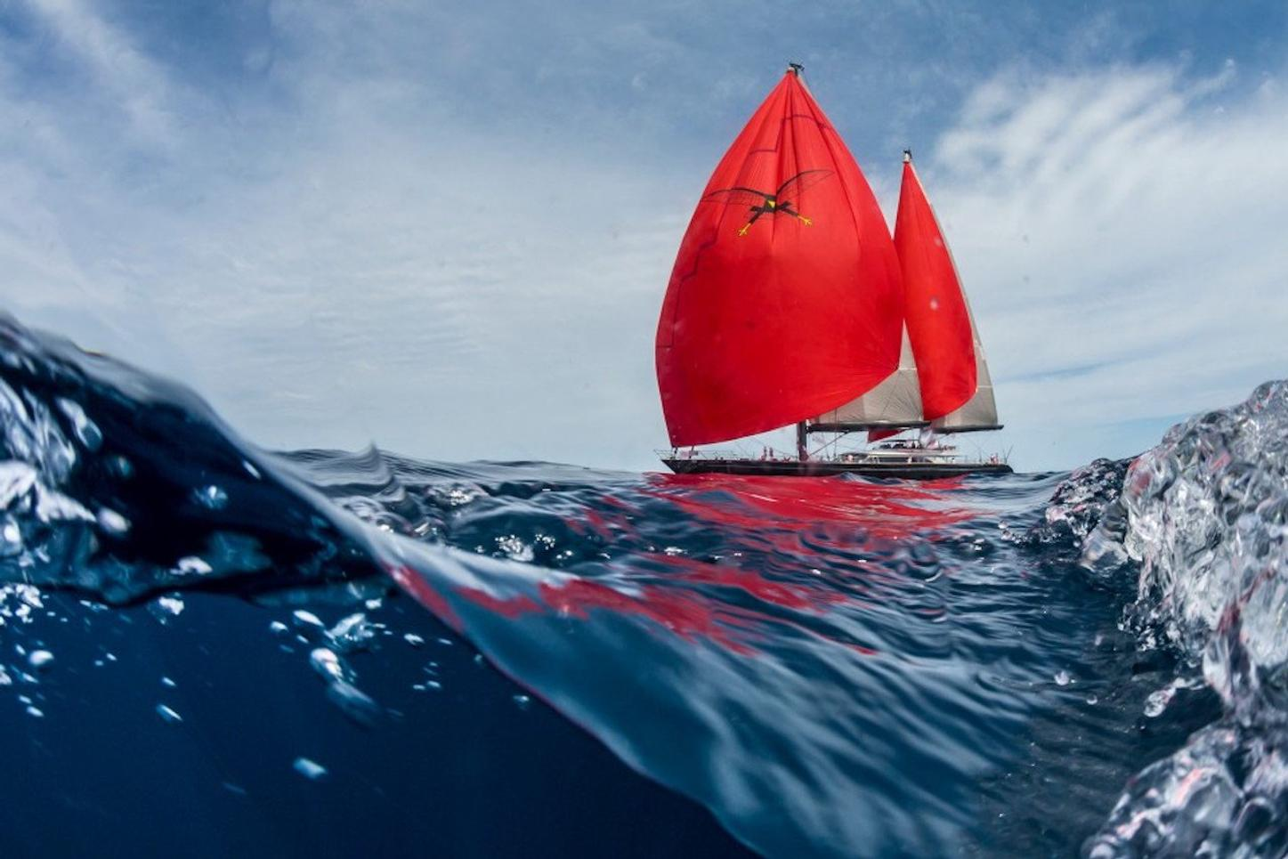sailing yacht SEAHAWK underway on a Caribbean yacht charter