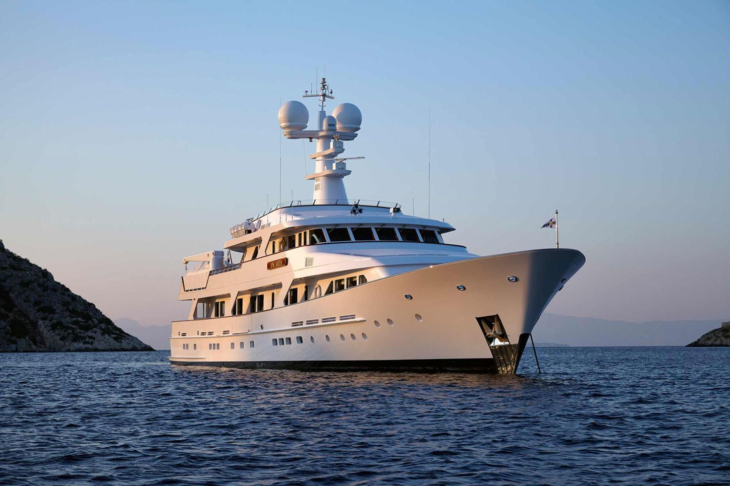 superyacht ANCALLIA cruising on a Greece yacht charter