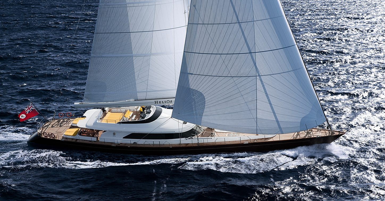 sailing yacht BLUSH underway on a Caribbean yacht charter