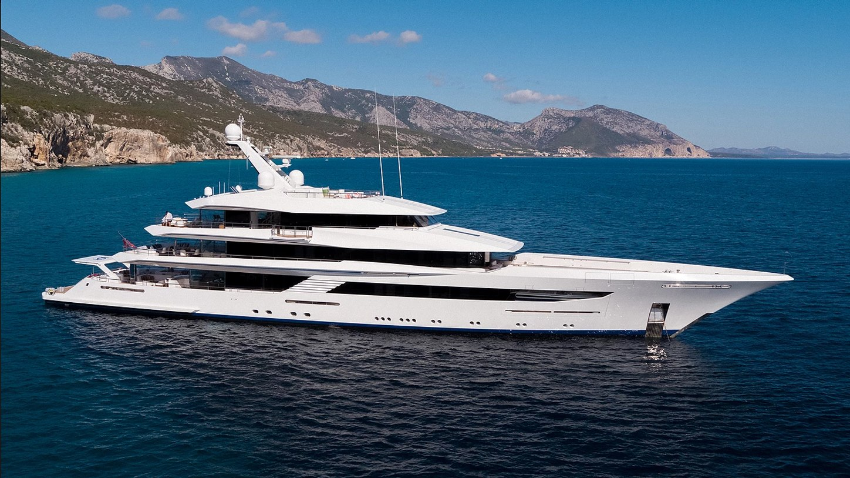 motor yacht JOY cruising in the Mediterranean during a luxury yacht charter