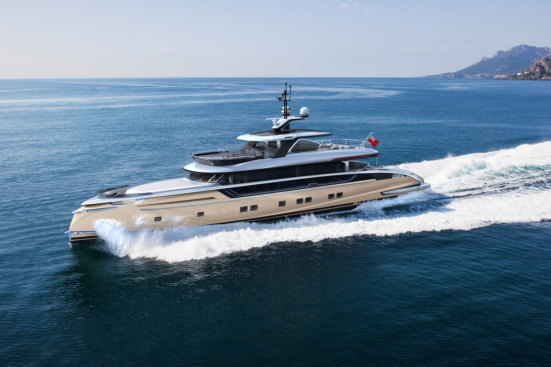 Superyyacht Stefania cruising in the Med