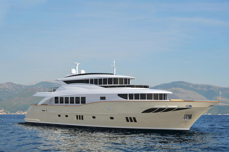Superyacht GATSBY on water