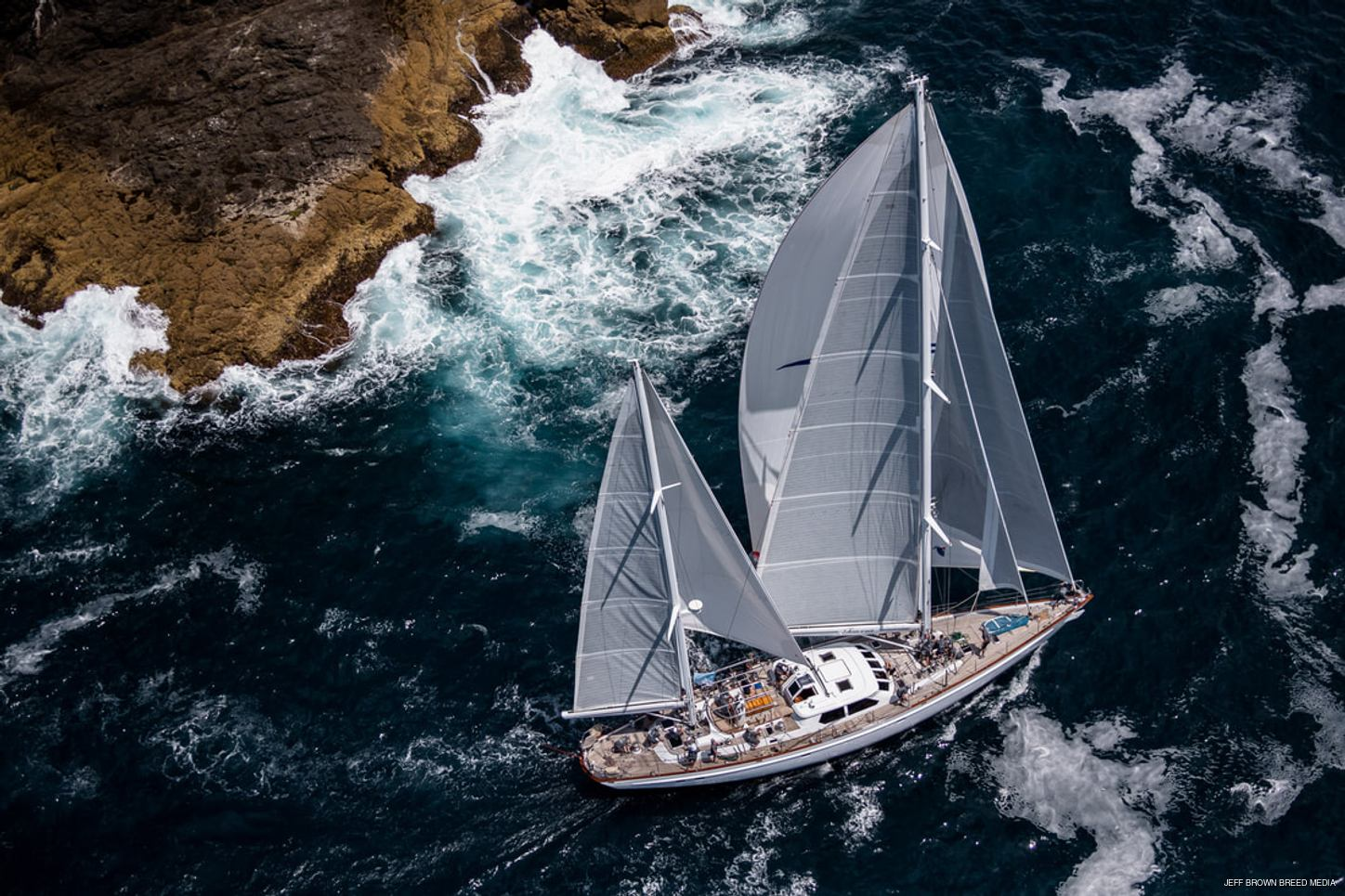 superyacht TAWERA competes at the NZ Millennium Cup 2019 in the Bay of Islands