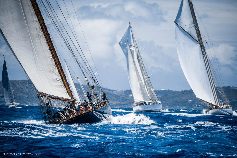 yachts do battle at the Antigua Classic Yacht Regatta