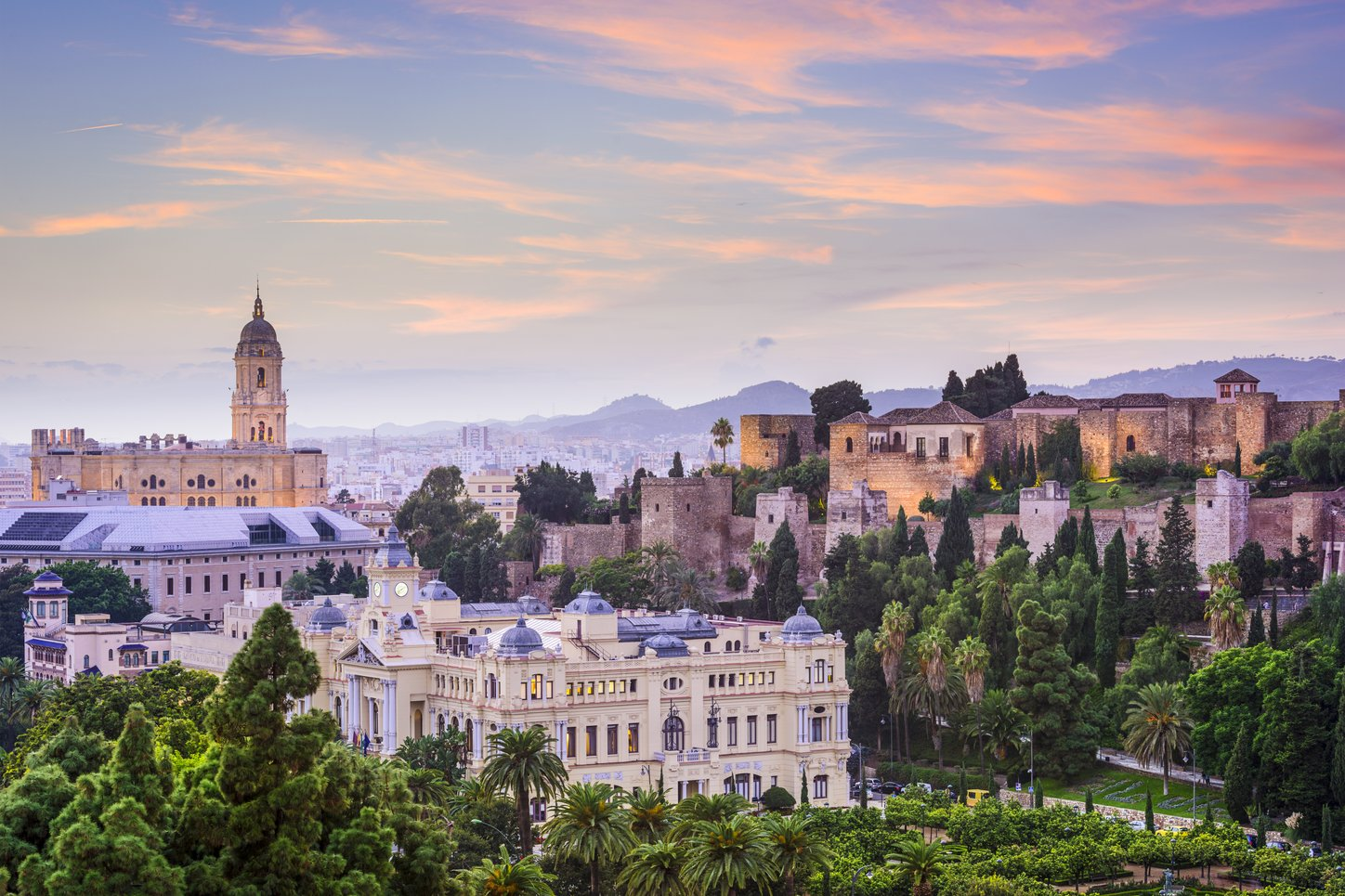 City view of Malaga, Spain