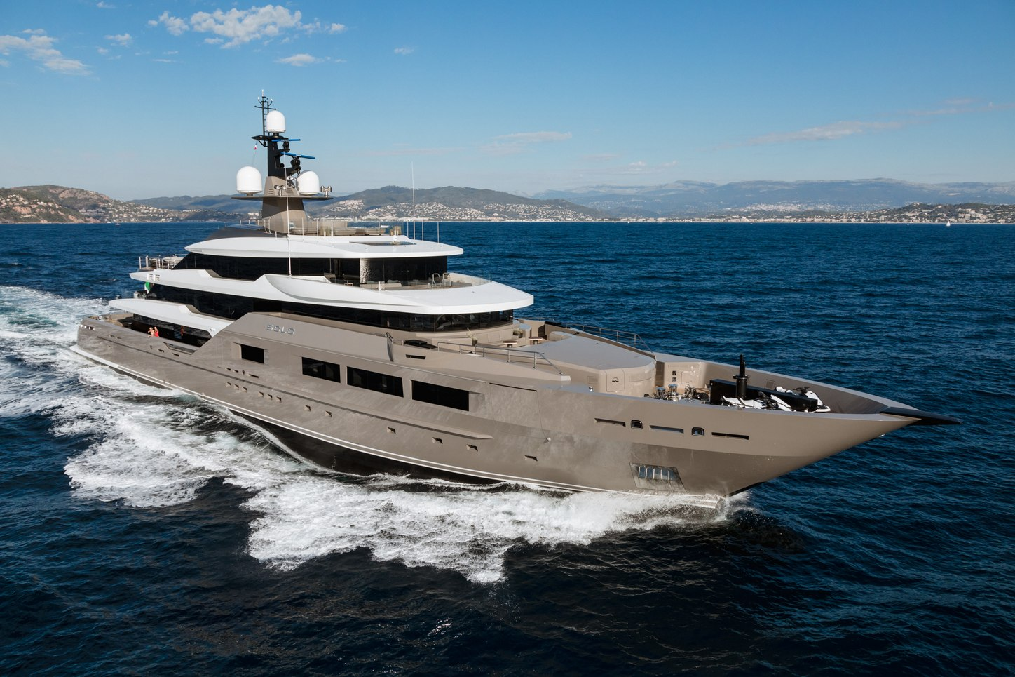 superyacht SOLO cruising on a Mediterranean yacht charter
