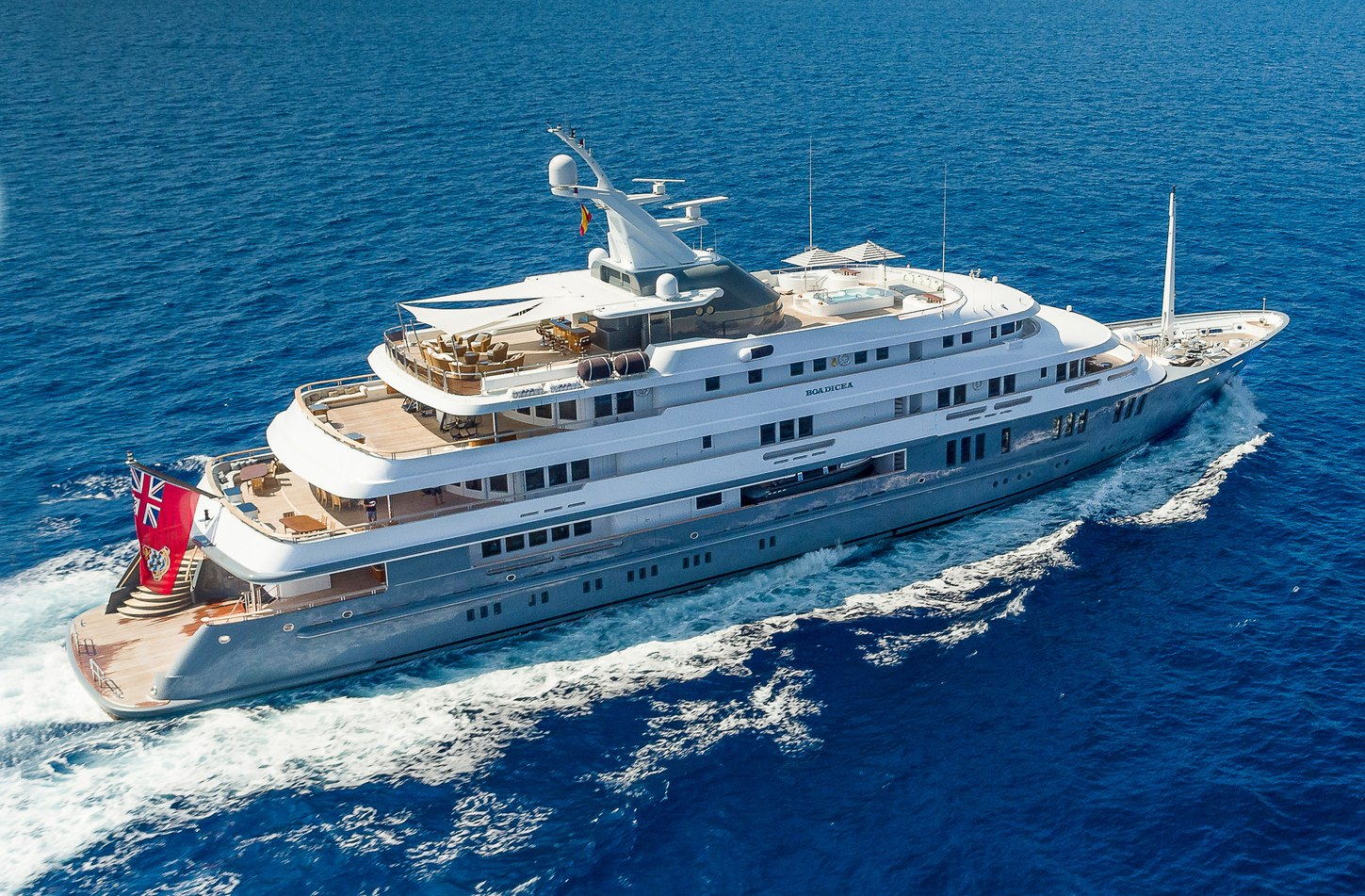 charter yacht BOADICEA cruising on a Mediterranean yachting vacation