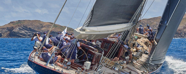 Sailing yachts competing in St Barths Bucket Regatta