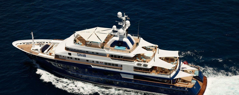 Lurssen 'Polar Star' Charter Yacht running shot