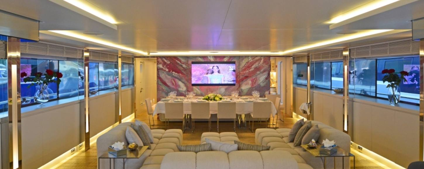 BARENTS SEA's main salon has been toned down and rearranged
