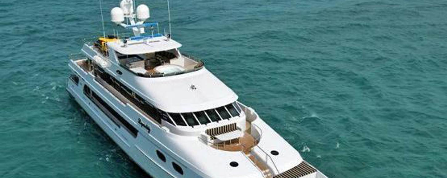 Charter yacht Top Five at anchor in New England