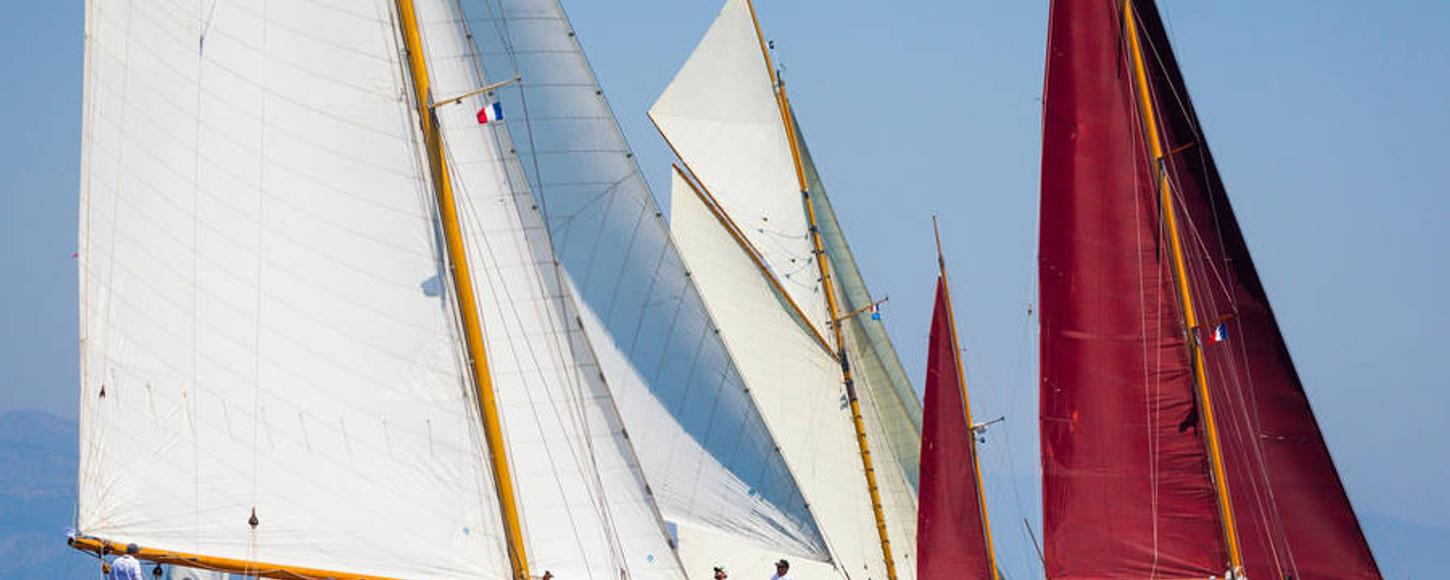 Yachts Sailing in Les Voiles d'Antibes