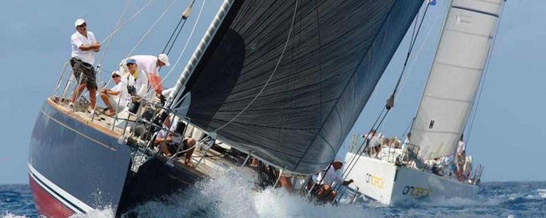 sailing yacht La Forza Del Destino competing in a regatta