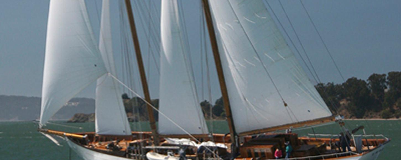 Charter yacht Eros at anchor in San Francisco