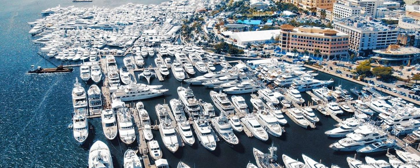 Yachts at Palm Beach Boat Show