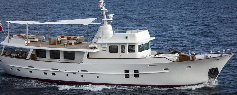 Charter Yacht Sultana cruising in Italy