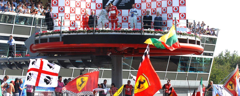 The winners Podium at Monza
