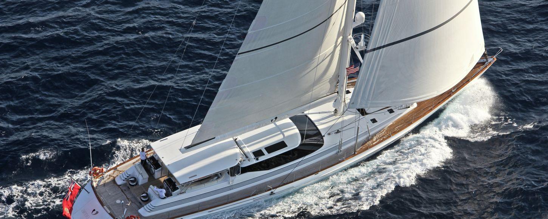 Charter yacht Aime Sea sailing in th West Mediterranean