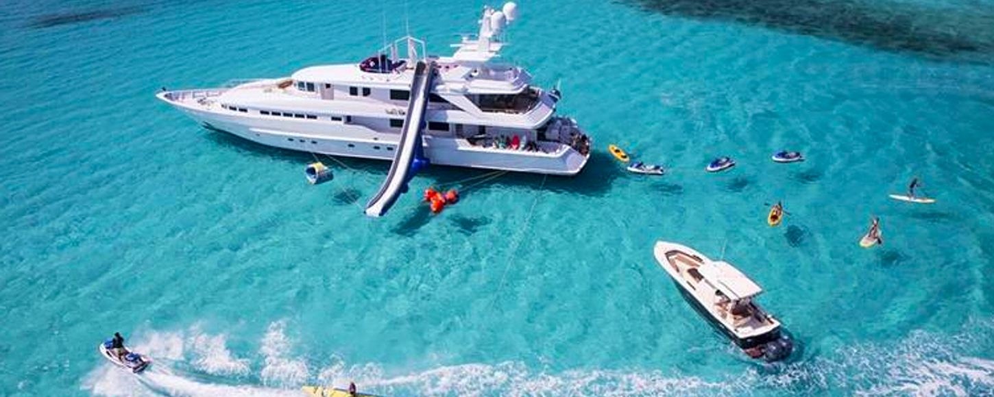 At Last Yacht with waterslide