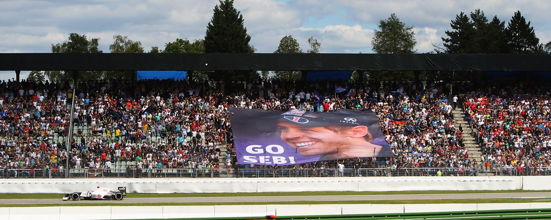 Car racing in the German Grand Prix