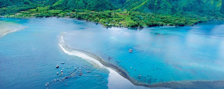 The beautiful South Pacific island of Tahiti