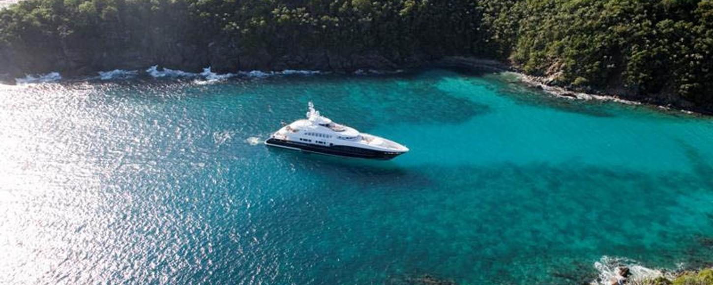 Charter yacht 4You at anchor