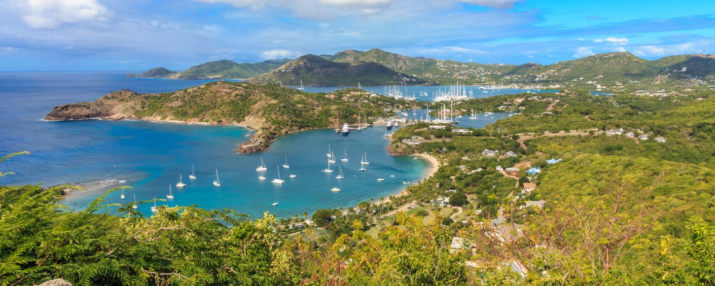 View of Antigua Bay from Shirely Heights, Antigua