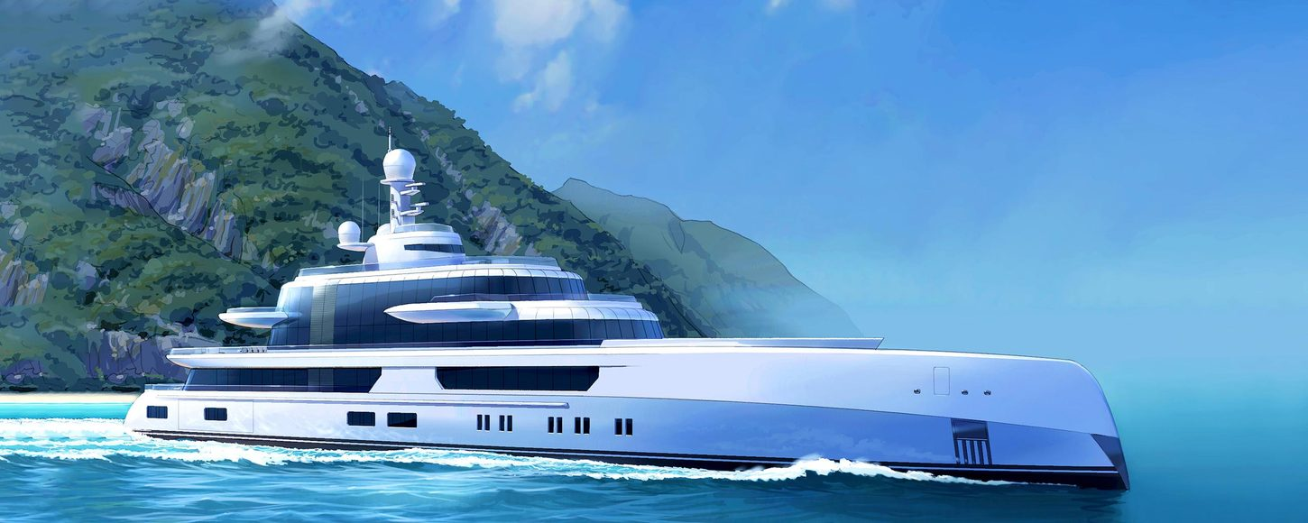 Rendering of Abeking and Rasmussen superyacht EXCELLENCE VI