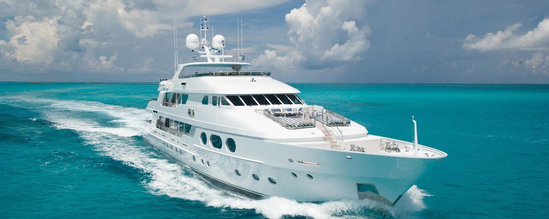 Superyacht Lady Joy cruising on charter in the Caribbean