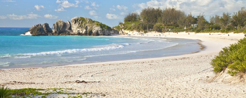 Deserted bay in Bermuda