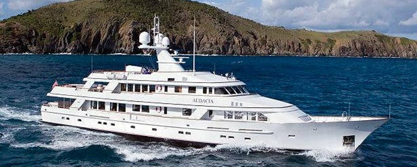 Feadship Audacia charter yacht sailing in the Mediterranean