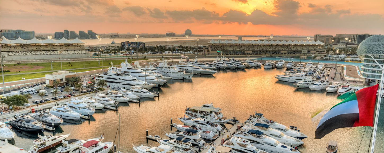Yachts at Abu Dhabi Grand Prix
