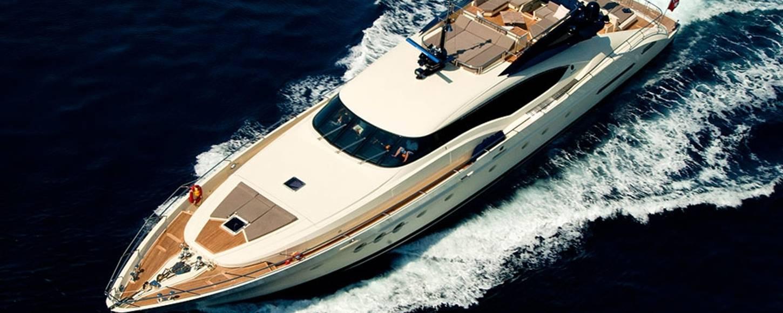 Charter yacht VANQUISH off the coast of Monaco