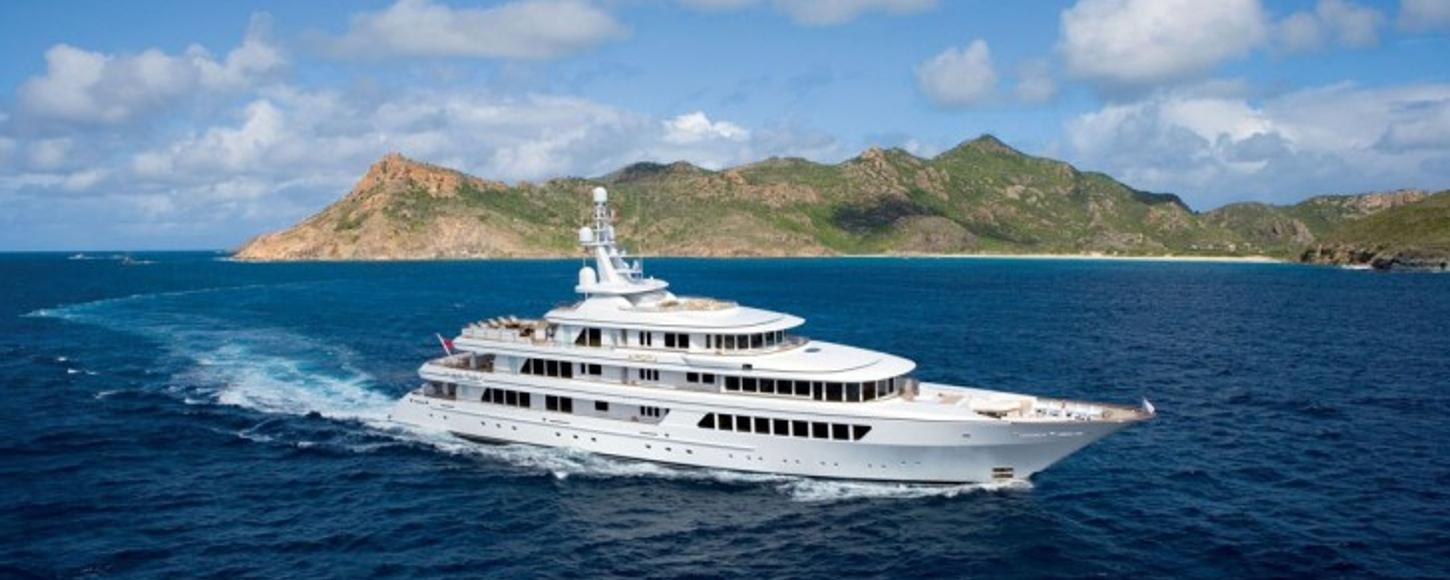 Newly refitted charter yacht Utopia cruising