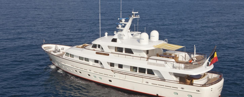 Charter yacht Cornelia at anchor in Croatia