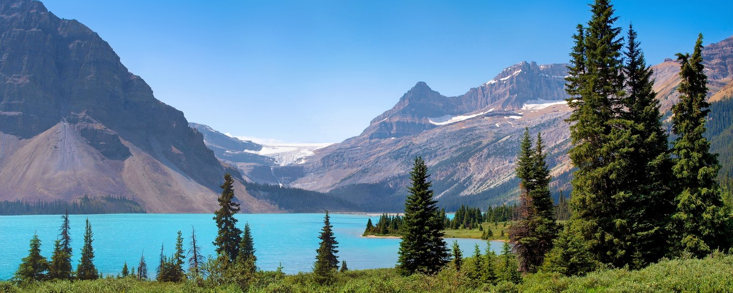 Stunning panoramic view of Canadian nature landscape in British Columbia