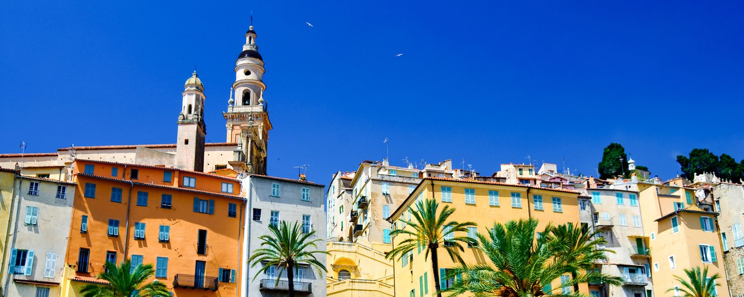 Menton, France on French Riviera