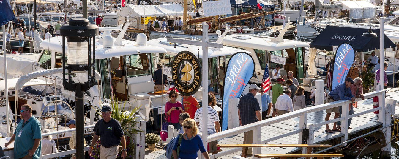 Yachts at the Newport Boat Show