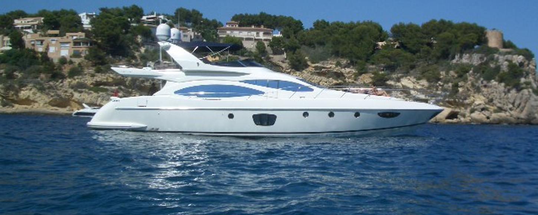 Charter yacht Wini at anchor in Ibiza