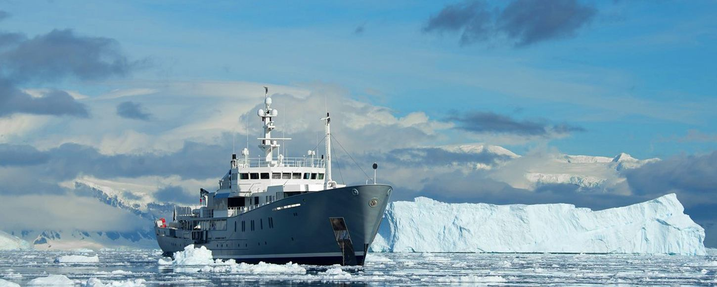 Expedition yacht Enigma XK cruising on charter in Antarctica